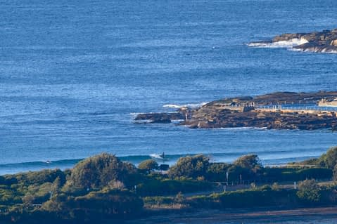 Wednesday morning picture of Dee Why showing tiny waves