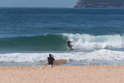 north curl curl surfer