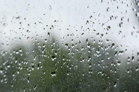 rain on the window pane