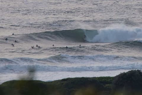DY point surfing big waves